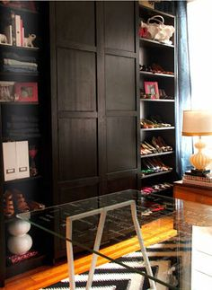 Cute PAX hack closet and bookcase two in one