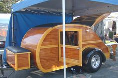 One-of-a-Kind 1947 Teardrop Trailer Styled After a Woody Wagon