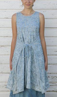 Alabama Denim Embroidered Dress