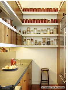 Dream pantry + counter tips + deep freezer =