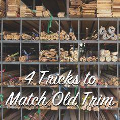 4 tricks to match old trim. #trim #oldtrim #vintagetrim #baseboards #homeowner #homeimprovement  #oldhouse #oldhome #historichouse #historichome #thecraftsmanblog #austinhistorical #vintage #vintagehome #blog #blogger #homerenovation #diy #howto