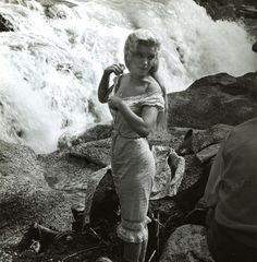 Marilyn on the set of River of No Return, 1954.
