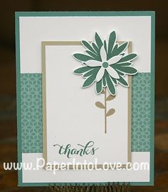 Stampin Up Lost Lagoon Thanks