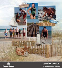 #papercraft #Scrapbook #layout.  Navarre Beach by Susie Bentz