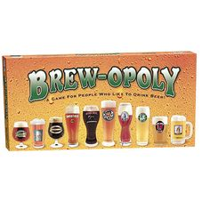 Brewopoly: This game is based on the familiar Monopoly game, but with a twist! The perfect gift for beer lovers and beer drinkers alike! Be you a pilsner, lager, or ale aficionado, this game is sure to tickle your taste buds -- Brewopoly --- http://everyopoly.com/opoly-games/brewopoly/