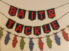 BAIT & TACKLE Banner Gone Fishing party by SweetPickledPosies, $62.50