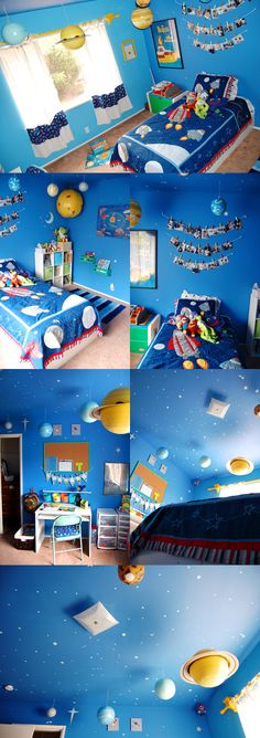 Kid's Space Room! Doing my son's room in cars & trucks this time, but this would be so cute when he's older!