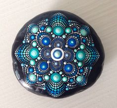 Garden Ornaments – Big Dot Art Mandala Painted Rock - Fairy Garden – a unique product by CreateAndCherish on DaWanda