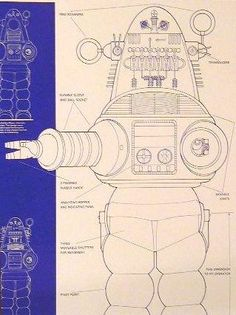 robbie the robot plans dimensions - Google Search