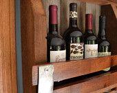 Reclaimed Barn wood / Wine Stave wine rack - mini +