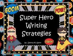 These 6 Super Hero Posters will make your little ones excited to learn about the writing process.  Use them as a reference to hang on your wall.  Enjoy!
