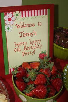 "Photo 2 of 12: Strawberry Shortcake and Strawberries / Birthday ""Strawberry Shortcake"" | Catch My Party"