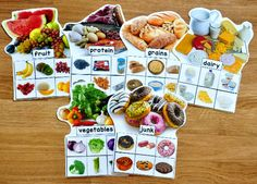 Food Groups Sorting Mats (w/Real Photos) - Click Image to Close