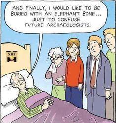 Funny cartoon - Dieing man - http://jokideo.com/