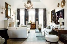 whites :: living room by Suzanne Kasler
