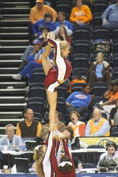 SEC tournament, college #cheer, Arkansas cheerleading, cheerleader, scorpion