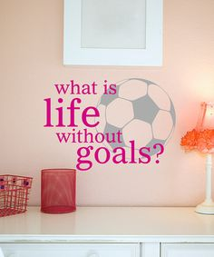 Take a look at this Belvedere Designs Pink Life Goals Wall Quote by Wallquotes.com by Belvedere Designs on #zulily today!