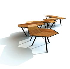 A flexible office table