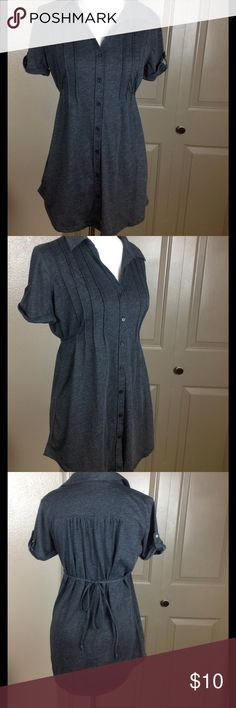 Union Bay Top Unic Tie back Medium Button Down Great condition black 60/40 cotton/poly machine wash 29 inch length 19 bust UNIONBAY Tops Blouses