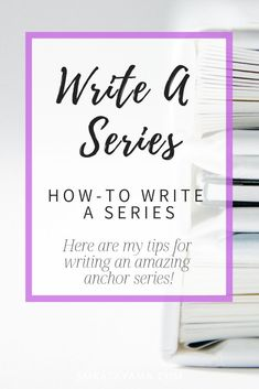 Are you itching to write a series? Here are my tips and insights into what it takes to write an amazing anchor series that will allow you to continue your passion! Creative Writing Tips, Book Writing Tips, Writing Process, Writing Resources, Writing Help, Writing Quotes, Writing Workshop, Article Writing, Writing Images