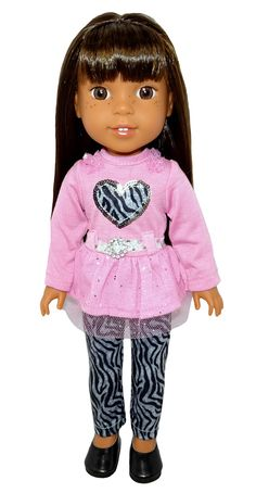 Add some sparkle to your dolls winter wardrobe with this cute outfit. Boy Doll, Girl Doll Clothes, Girl Dolls, American Girl Wellie Wishers, Wellie Wishers Dolls, Cabbage Patch Kids, Doll Shoes, Winter Wardrobe, Winter Fashion