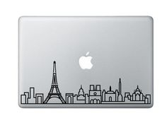 Paris Skyline Art Decal - Decorative Sticker for MacBook