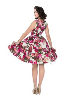 1dcaef6ace Georgia Roses Hepburn Style Swing Dress - Modern Grease Clothing and Accessories  Co. Grease Clothing