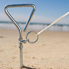 diy beach tent   Beach tent anchor