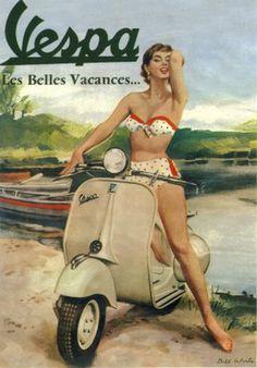 Vintage Posters of Vespa