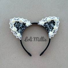 Ariana Cat Ears Headband Original Design by by LoliMillie