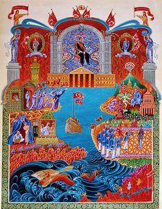 Bülent Özgen - ERTUĞRUL'UN ŞANLI SEFERİ   TÜRKÂRİ Art And Illustration, Turkish Art, Illuminated Letters, Photo Finder, Ottoman Empire, Psychedelic Art, Cartography, Indian Art, Traditional Art