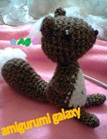 Ardilla - Squirrel  Amigurumi - Patrón Gratis en Castellano y Diagramas en Japonés