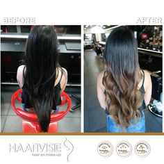 Balayage ombre hair made with olaplex. By team haarvisie