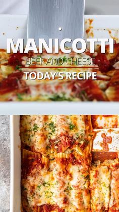 Italian Dinner Recipes, Italian Dishes, Best Italian Food, Traditional Italian Food, Italian Foods, Beef Manicotti, Cheesy Manicotti Recipe, Cheese Manicotti, Authentic Italian Manicotti Recipe