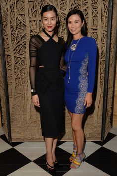 Liu Wen and Wendi Murdoch at a private cocktail party to celebrate The Met Gala Exhibition [Photo by Steve Eichner]