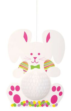 3 Pack Unique Party Easter Bunny /& Eggs Shaped Mini Honeycomb Table Centrepiece Decorations