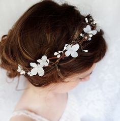 Flower garland, another hair idea for you and/or bridesmaids?