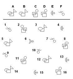 Can you find the matching shapes? This activity builds visual discrimination skills, which are very important for reading.
