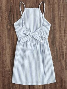 Shop Striped Cut Out Bow Tie Open Back Cami Dress online. SheIn offers Striped Cut Out Bow Tie Open Back Cami Dress & more to fit your fashionable needs. Simple Dresses, Cute Dresses, Casual Dresses, Dresses For Work, Elegant Dresses, Sexy Dresses, Formal Dresses, Wrap Dresses, Trendy Dresses