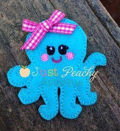 Just Peachy - Girl Octopus Clippy