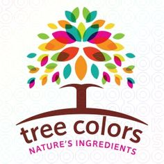 design company name ideas bright colorful leaves create a canopy of beautiful flourishing leaves the trunk and branches of the - Design Company Name Ideas