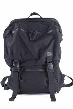 Porter Yoshida Porter - Klunkerz Daypack-Black Porter Yoshida, Leather Bags, Backpacks, Stuff To Buy, Black, Fashion, Leather Tote Handbags, Moda, Leather Totes