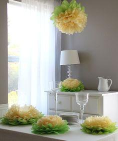 This Yellow Flower Pom Set is perfect! #zulilyfinds