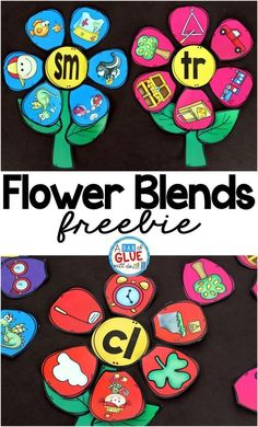 Flowers Blend Match-Up is the perfect addition to your spring literacy centers. This free printable is perfect for kindergarten and first grade students. kindergarten Flowers Blend Match-Up Centers First Grade, First Grade Phonics, First Grade Reading, Kids Reading, Guided Reading, First Grade Crafts, Reading Wall, Kindergarten Language Arts, Kindergarten Centers