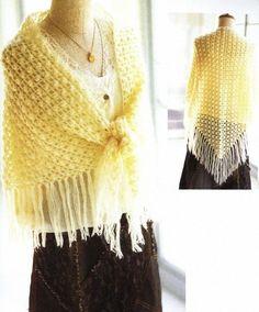 A warm shawl crochet Crochet Prayer Shawls, Crochet Shawls And Wraps, Crochet Poncho, Knitted Shawls, Crochet Scarves, Crochet Clothes, Crochet Lace, Crochet Hooks, Free Crochet