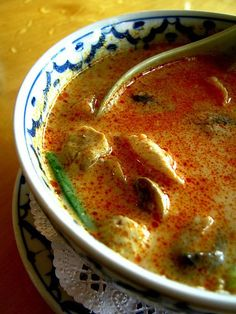 Tom Yum Gai. Thai Spicy Chicken Soup Recipe
