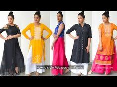How to style palazzo with kurtis | Indian Ethnic Wear | Perkymegs. palazzo suit.