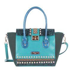 e623664c07e2 Nicole Lee Noelle Glossy Accent Shoulder Handbag