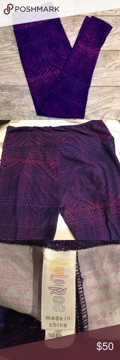 LuLaRoe Leggings TC Unicorn Purple & pink tribal/Aztec print super soft leggings. These are a unicorn legging, everyone will love them & they can be matched with several colors. Perfect for all Season! LuLaRoe Pants Leggings