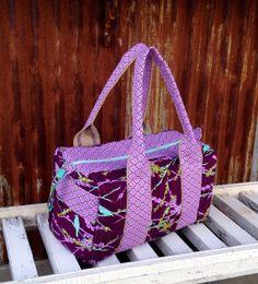 Weekener Duffle Bag/Carry-On - Ready to Ship - Aqua Birds on Etsy, $65.00